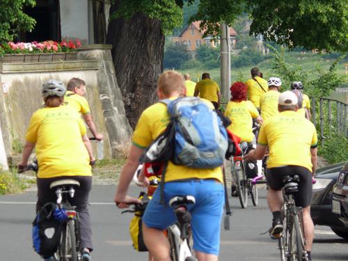 Start der Tour de Laubegast 2015
